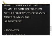 Socrates Quote In Negative Carry-all Pouch