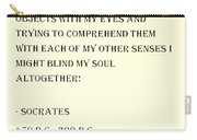 Socrates Quote In Sepia Carry-all Pouch