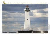 Sodus Outer Lighthouse On Stormy Lake Carry-all Pouch