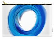 Soft Blue Enso - Abstract Art By Sharon Cummings Carry-all Pouch