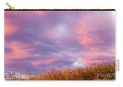 Soft Diffused Colourful Sunset Over Dry Grassland Carry-all Pouch
