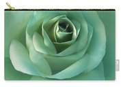 Soft Emerald Green Rose Flower Carry-all Pouch by Jennie Marie Schell