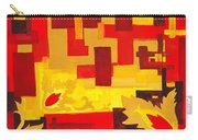 Soft Geometrics Abstract In Red And Yellow Impression I Carry-all Pouch