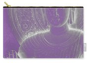 Soft Glow Purple Buddha Carry-all Pouch by Sally Rockefeller