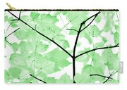 Soft Green Leaves Melody Carry-all Pouch