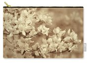 Soft Sepia Dancing Azalea Flowers Carry-all Pouch
