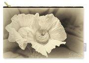 Soft Sepia White Poppy Matilija Flower Carry-all Pouch