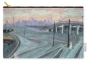 Soft Sunset Over San Francisco And Oakland Train Tracks Carry-all Pouch