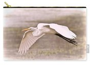 Soft White Egret Carry-all Pouch