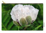 Soft White Poppy Carry-all Pouch