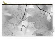 Softness Of Maple Leaves Monochrome Carry-all Pouch