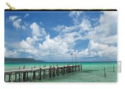 Sok San Pier On Long Beach In Koh Rong Island Cambodia Carry-all Pouch