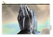 Solar Praying Hands Carry-all Pouch