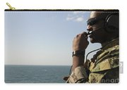 Soldier Instructs Small Boat Maneuvers Carry-all Pouch