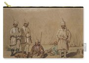 Soldiers Relaxing, 1844 Wc & Gouache On Paper Carry-all Pouch