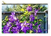 Solina Clematis On Fence Carry-all Pouch