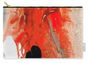 Solitary Man - Red And Black Abstract Art Carry-all Pouch