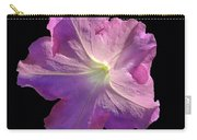 Solitary Pink Petunia Carry-all Pouch