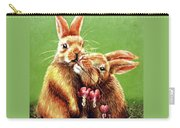 Some Bunny Loves You Carry-all Pouch by Linda Simon