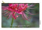 Song Of Solomon - The Flowers Appear Carry-all Pouch