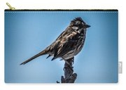 Song Sparrow On Top Of Branch Carry-all Pouch