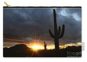 Sonoran Desert Rays Of Hope Carry-all Pouch by Bob Christopher