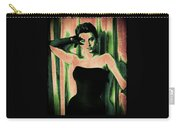 Sophia Loren - Green Pop Art Carry-all Pouch by Absinthe Art By Michelle LeAnn Scott