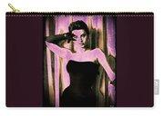 Sophia Loren - Purple Pop Art Carry-all Pouch by Absinthe Art By Michelle LeAnn Scott