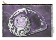 Sophisticated Coastal Art Original Sea Shell Painting Purple Royal Sea Snail By Madart Carry-all Pouch