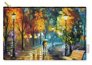 Soul Of The Rain - Palette Knife Oil Painting On Canvas By Leonid Afremov Carry-all Pouch