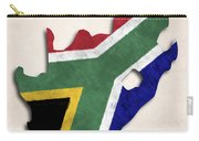 South Africa Map Art With Flag Design Carry-all Pouch