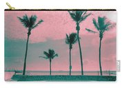 South Beach Miami Tropical Art Deco Five Palms Carry-all Pouch