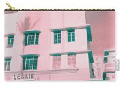 South Beach Miami Leslie Tropical Art Deco Hotel Carry-all Pouch