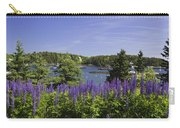 South Bristol And Lupine Flowers On The Coast Of Maine Carry-all Pouch