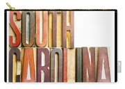 South Carolina Antique Letterpress Printing Blocks Carry-all Pouch
