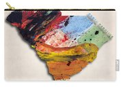 South Carolina Map Art - Painted Map Of South Carolina Carry-all Pouch