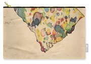 South Carolina Map Vintage Watercolor Carry-all Pouch