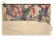 South Dakota Map Vintage Watercolor Carry-all Pouch