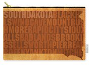 South Dakota Word Art State Map On Canvas Carry-all Pouch