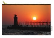 South Haven Lighthouse At Sunset 1 Carry-all Pouch