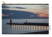 South Haven Michigan Lighthouse Carry-all Pouch by Adam Romanowicz