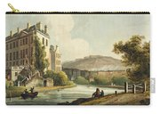 South Parade From Bath Illustrated Carry-all Pouch by John Claude Nattes
