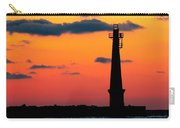 South Pier Light At Night Carry-all Pouch