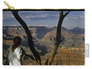 South Rim Grand Canyon Sunset Light On Rock Formations With Woma Carry-all Pouch