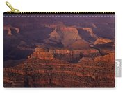 South Rim Grand Canyon Taken Near Yavapai Point Sunset Light On  Carry-all Pouch