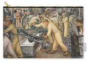 South Wall Of A Mural Depicting Detroit Industry Carry-all Pouch by Diego Rivera
