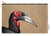 Southern Ground Hornbill Portrait Side View Carry-all Pouch by Johan Swanepoel
