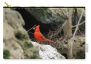 Southern Red Bird By The Flint River Carry-all Pouch