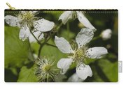 Southern Sawtooth Highbush Blackberry Blossoms - Rubus Argutus Carry-all Pouch