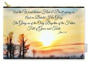 Southern Sunset - Digital Paint II With Verse Carry-all Pouch by Debbie Portwood